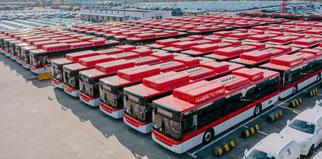 Infos express marchés Le 10 juin, 500 autobus de 10 mètres de long qui ont été expédiés à partir du port de Lianyungang en Chine, ils seront débarqués au Myanmar – un pays le long de