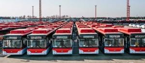 100 bus entièrement électriques envoyés au Chili !