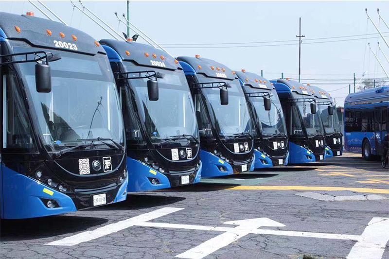 63 trolleybus bi-source Yutong ouvrent un nouveau chapitre de la mobilité verte à Mexico