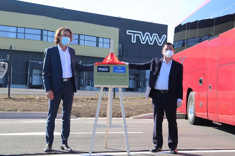 Le plus grand centre dentrepôt de pièces de rechange pour les bus chinois en Europe a été mis en place en France, Yutong accélère son arrangement à létranger