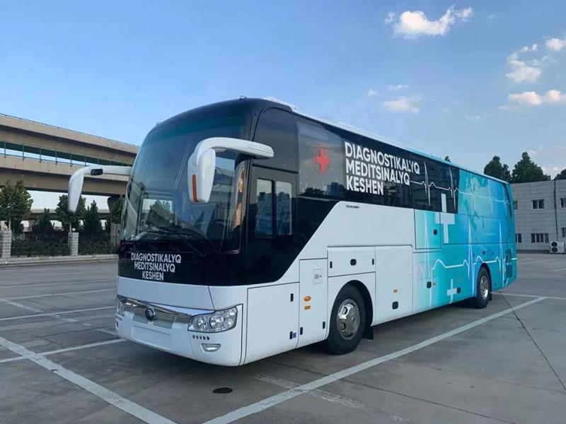 La plus grande livraison mondiale! 100 véhicules dexamen physique Yutong arrivent au Kazakhstan pour lutter contre le COVID-19