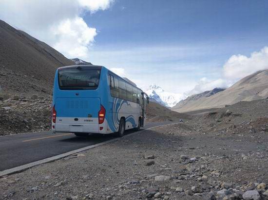 Le Yutong bus électrique à 100% a dompté l'altitude de 5200m